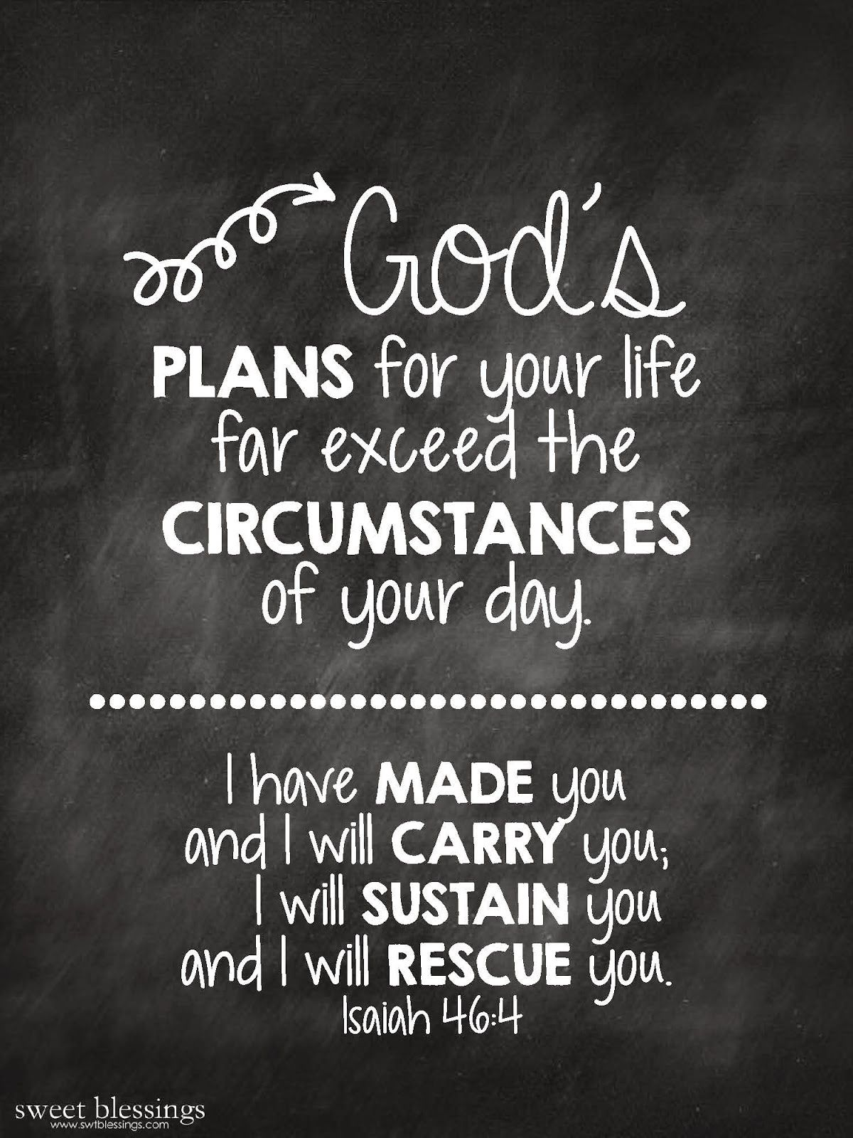 Sweet Blessings God s Plans free printable