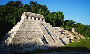 Water tunnels recently discovered beneath Mayan Kings Tomb.  The Temple of Inscriptions at the archaeological site of Palenque, in the state of Chiapas, where archaeologists found a network of underground water canals dating from the seventh century.  The Guardian