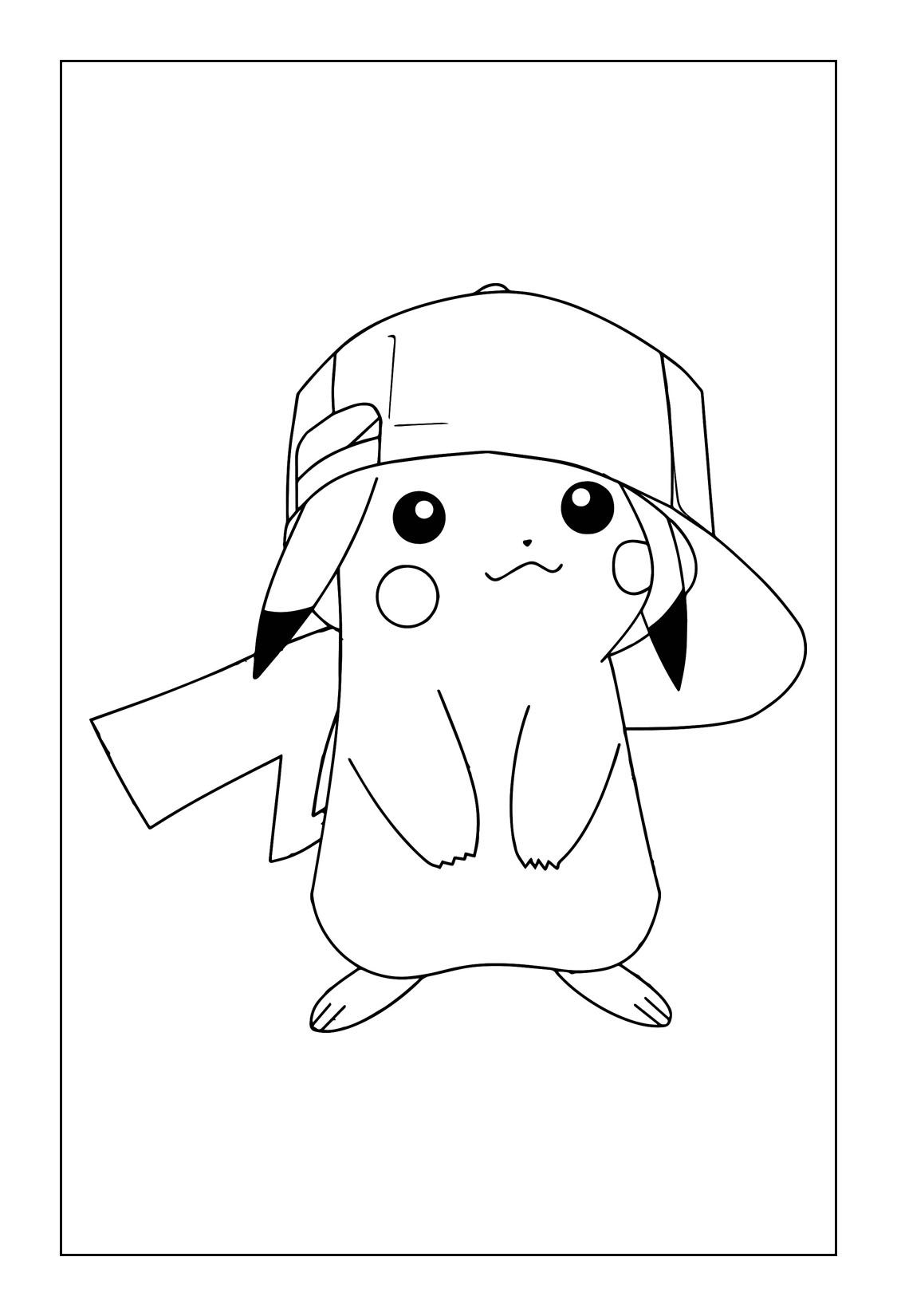 Printable Pikachu Coloring Pages With Images Pikachu Coloring