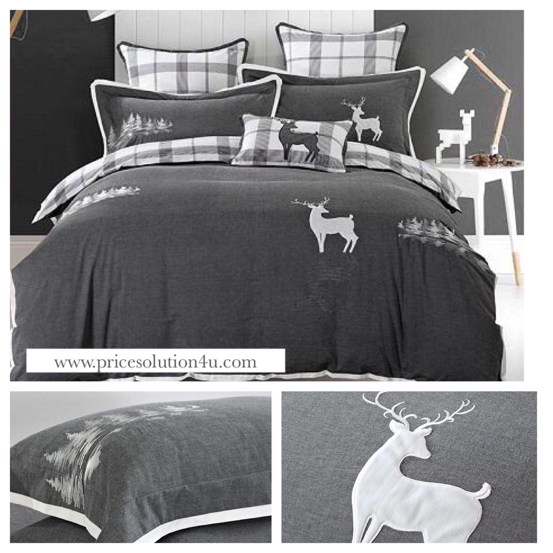 Rain Deer Grey Bedding Sets Queen King Size Queen Bedding Sets Bedding Sets Grey Grey Bedding