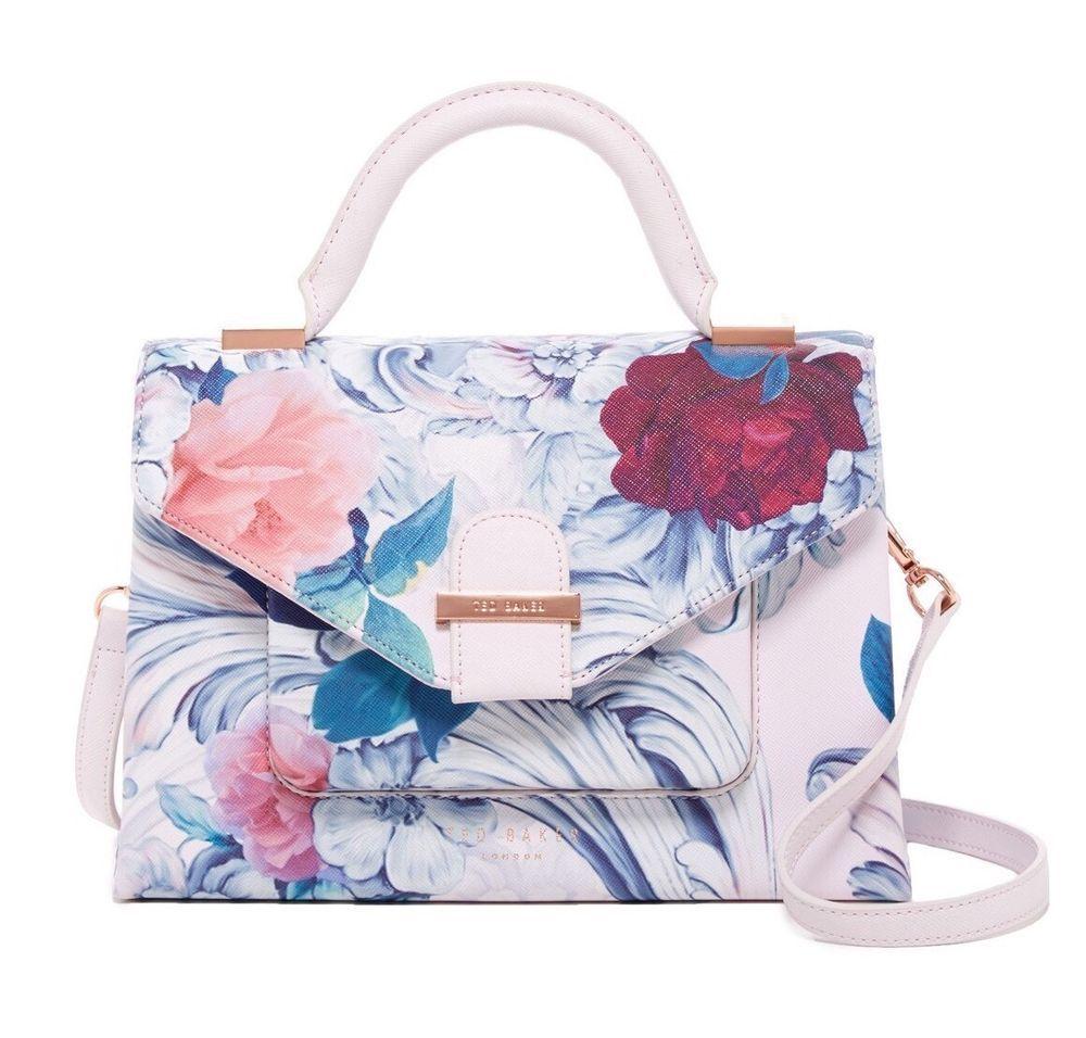 Ted Baker Tessier Floral Satchel Shopper Purse Bag New Ebay