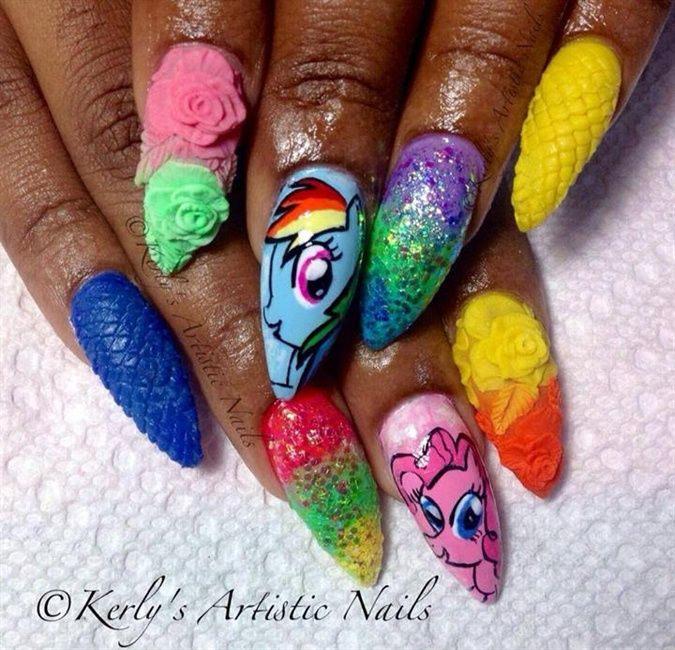My little pony nail art nail art gallery nail ideas my little pony nail art nail art gallery prinsesfo Gallery