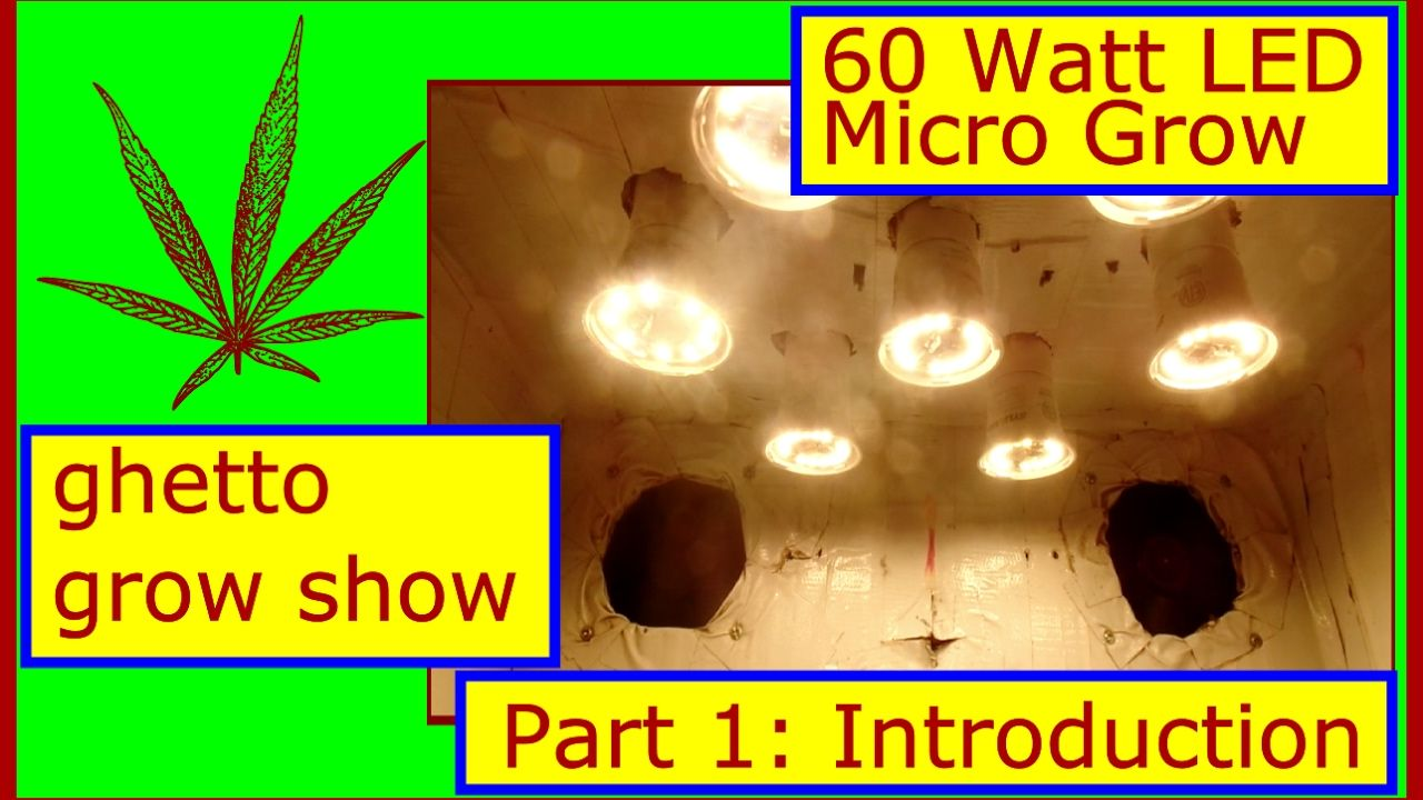 Do you already have led lighting inside the house part 1 come - 60 Watt Diy Led Micro Weed Grow Part 1 The Setup