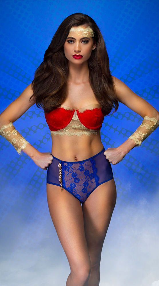 3272d43a29a4f Wonder Woman Small VINTAGE AMAZONIAN FANTASY LINGERIE COSTUME EY-3780 NEW!!  SEXY #Mapale #CompleteOutfit #Lingerie