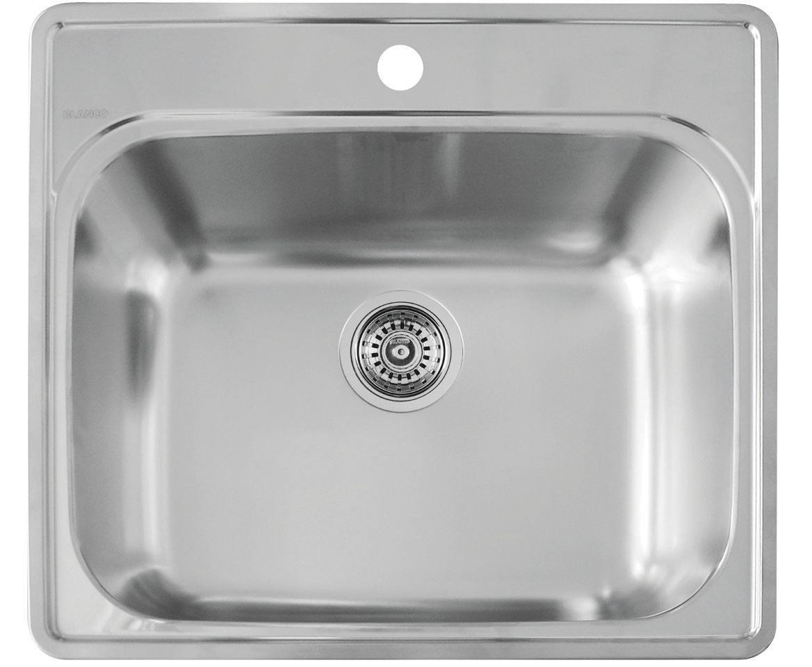 Amazon Com Blanco 441078 Essential Laundry Sink Stainless Steel Home Improvement Laundry Sink Single Sink Kitchen Sink