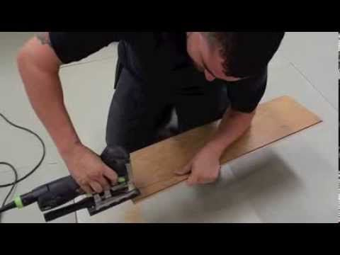 How To Lay Laminate Flooring Going Through A Doorway Youtube How