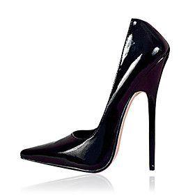 6.3in Heel Height Stiletto Heel Women's Pumps Sexy Shoes Patent Leather High Heels