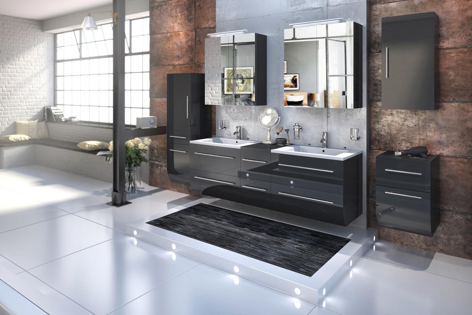 Waschbecken Mit Unterschrank Badeinrichtung Neue Ideen Von Der Messemsncom Waschbeckenunterschrank Waschbecken Unterschrank