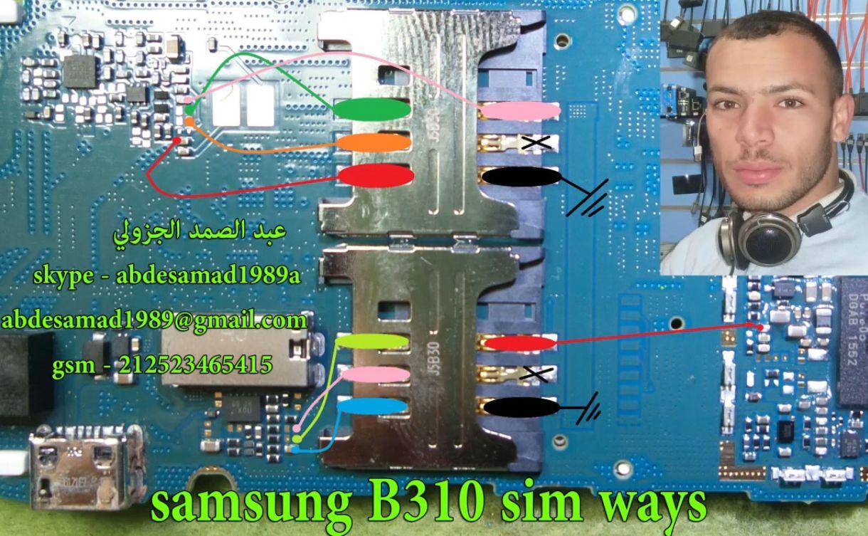Samsung B310 Insert Sim Card Problem Solution Jumper Ways A
