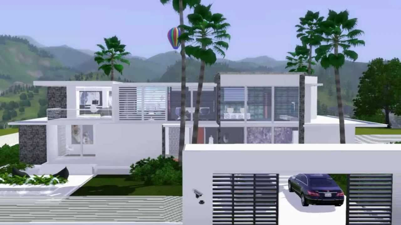 luxury modern house the sims 3 hd - Huge Modern Houses