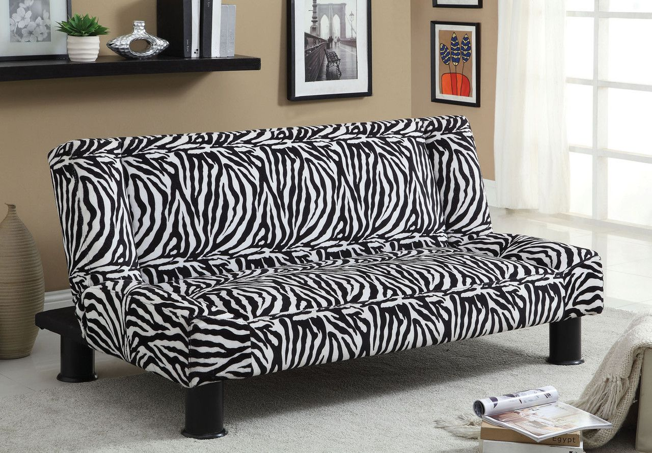 Zebria Futon Sofa Cm2461 For 169 Description An Alluring Zebra Print Fabric Will Bring Spice To Any Room In Your Home Futon Sofa Folding Sofa Bed Retro Sofa