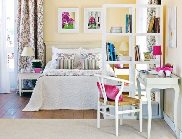 girly bedroom design. Girly Bedroom Design with Bookshelf Divider Ideas  Appartement