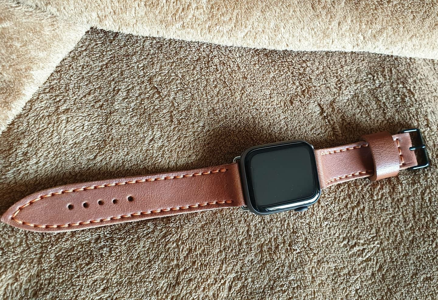 Leather apple watchstrap full grain leather in 2020