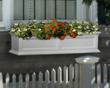 "Fairfield 48"" Window Box Black, White or Clay"