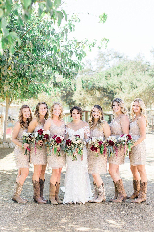 Bridal Party Flowers With Merlot Dahlias Blush Dahlias Sand