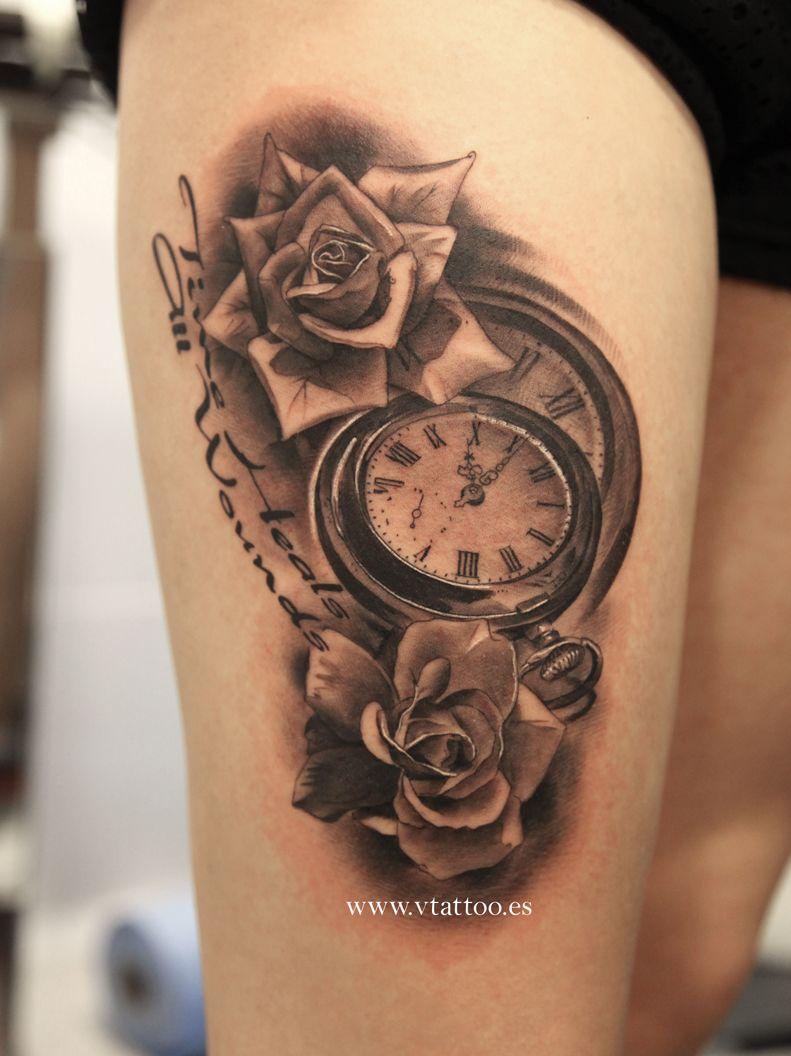 Tatuaje Steampunk Rosas Reloj Búsqueda De Google Tatuajes Para