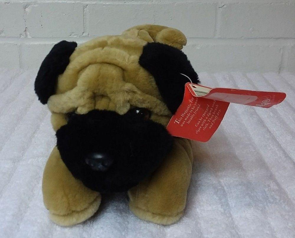 Remarkable Fiesta Pug Laying Dog Stuffed Animal Plush Beanbag Brown Machost Co Dining Chair Design Ideas Machostcouk