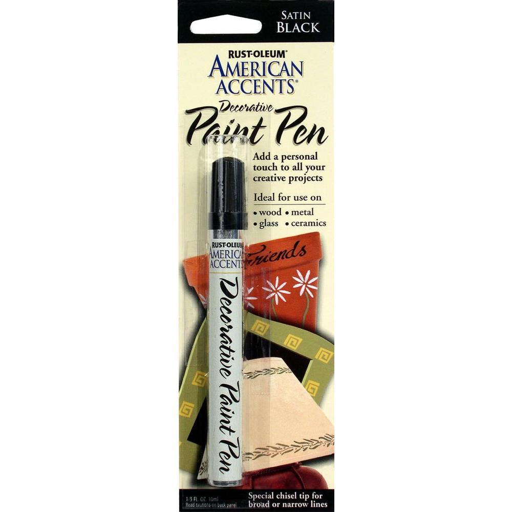 Rust Oleum American Accents Satin Black Decorative Paint Pen