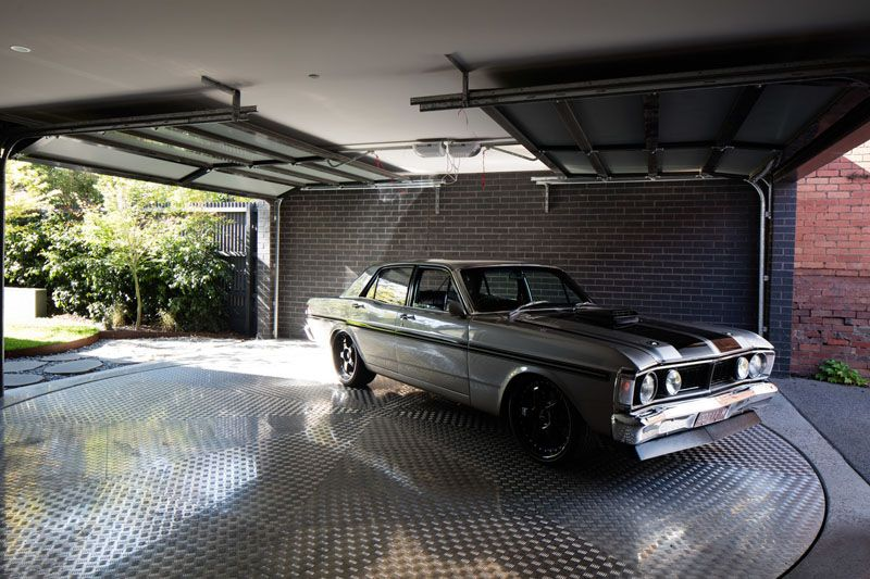 Garage Design Idea Include A Car Turntable If You Re Short On