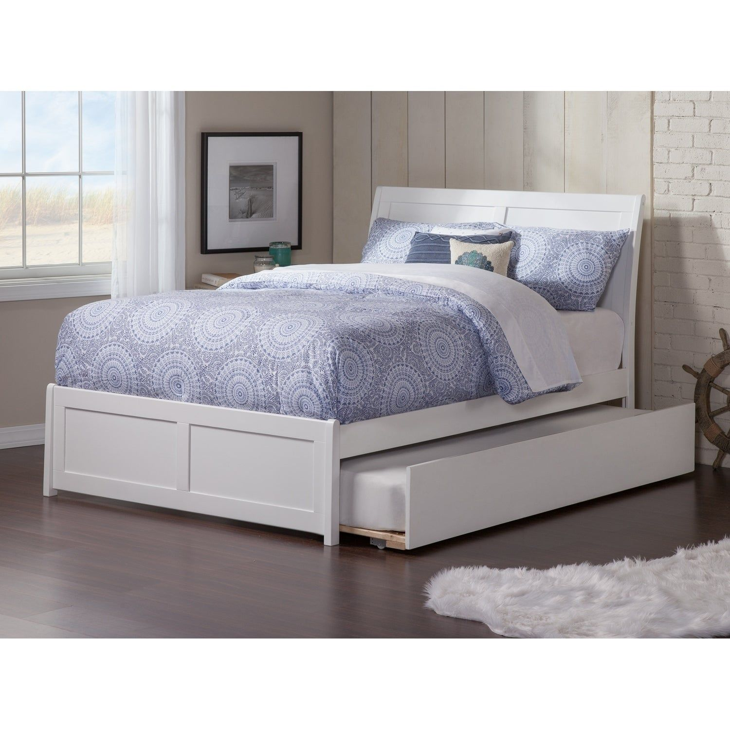 Portland Full Platform Bed with Matching Foot Board with