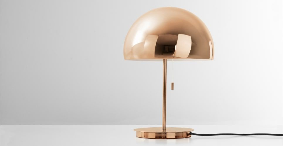 Collet table lamp champagne copper from made its fun its collet table lamp champagne copper from made its fun its fancy and it wont break the bank the collet table lamp is seeking lounge to ligh mozeypictures Images