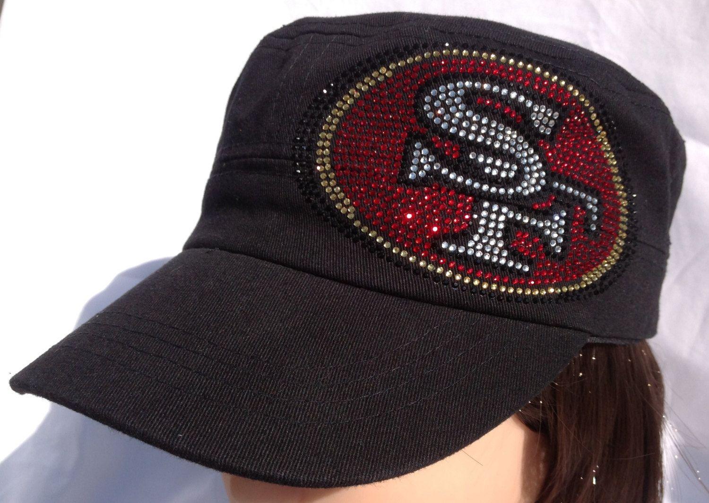 Rhinestone Sf 49ers Military Trucker Baseball Hat 49ers Sf 49ers Military Hat