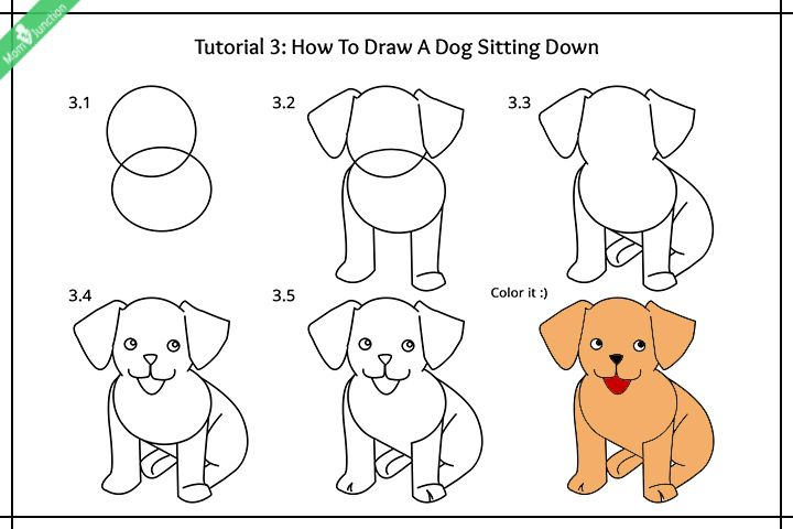 Step By Step Guide On How To Draw A Dog For Kids Puppy Drawing Easy Puppy Drawing Easy Drawings