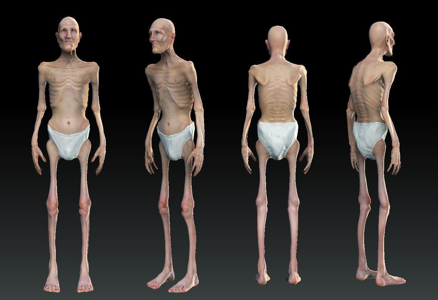 The Old Man | Concept Art | Pinterest | Skinny men, Male skeleton ...