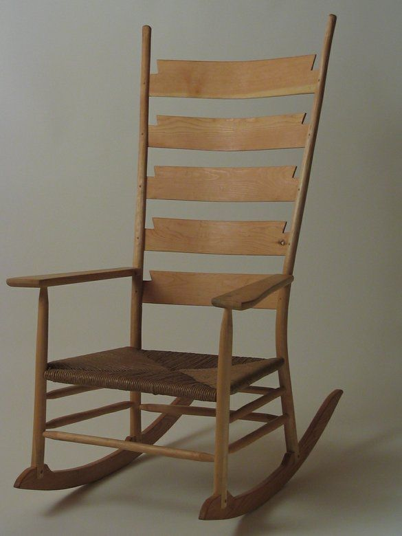 Ladder Back Rocking Chair By Silvertree Woodworking Rocking Chair Rocking Chair Porch Diy Rocking Chair