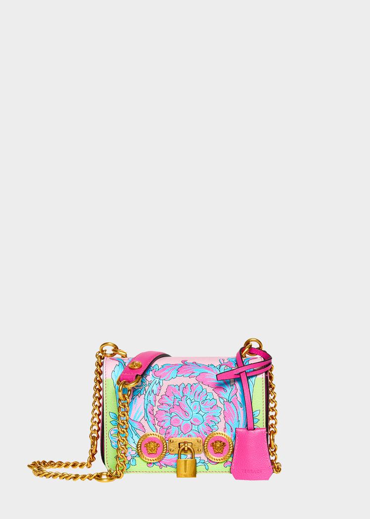 0ab29a8441 Small Technicolor Baroque Print Icon Bag for Women | Official ...
