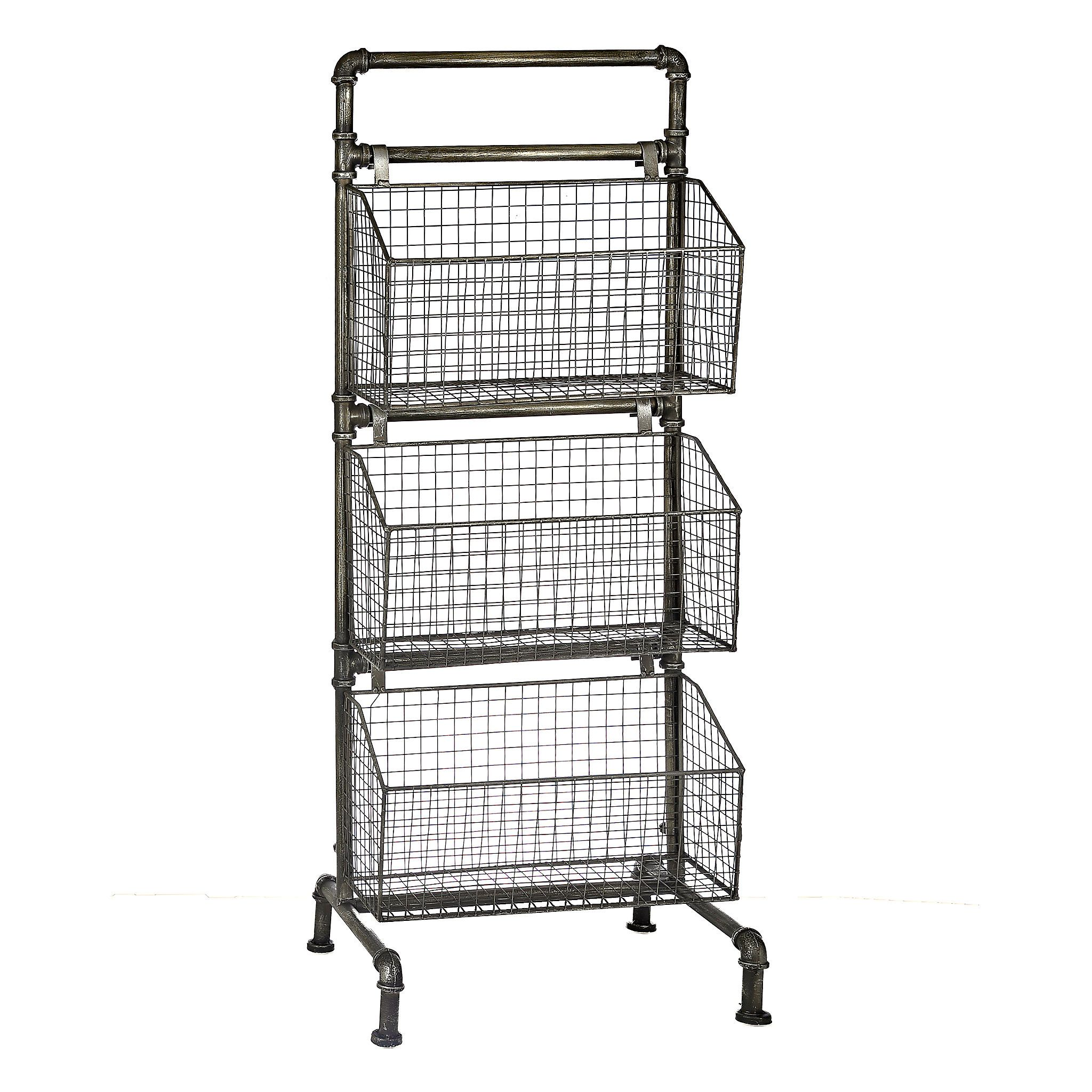 Industrial 3 Tier Metal Basket Tower Kirklands Home Decor Sale Metal Baskets Decor Color Schemes
