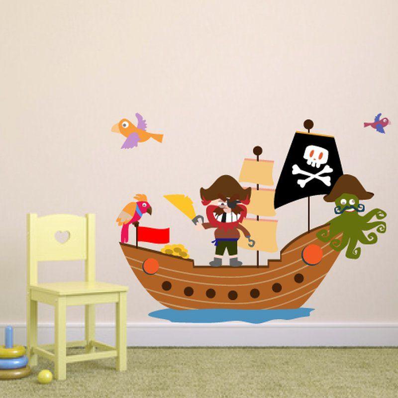 Wandtattoo ahoi pirat auf hoher see ahoi wandtattoo - Piratenzimmer wandgestaltung ...
