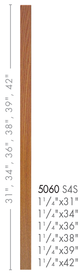 Best 5060 38 Contemporary Style S4S Baluster Contemporary 400 x 300