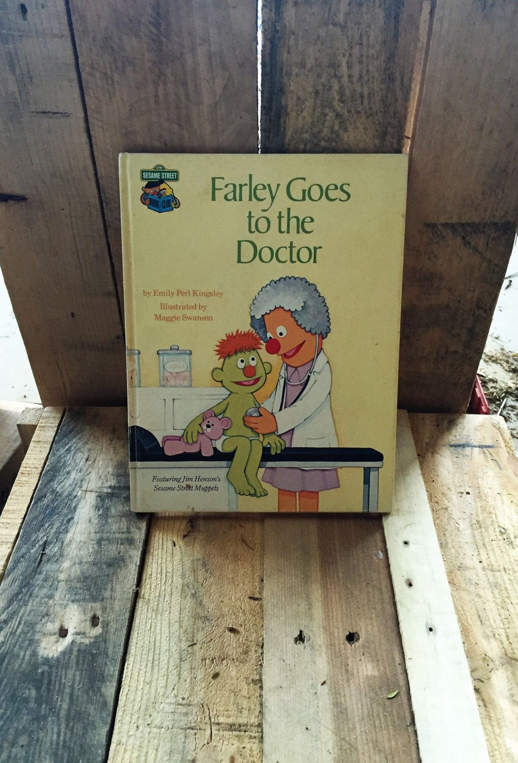 A personal favourite from my Etsy shop https://www.etsy.com/au/listing/471147843/vintage-sesame-street-book-club-farley