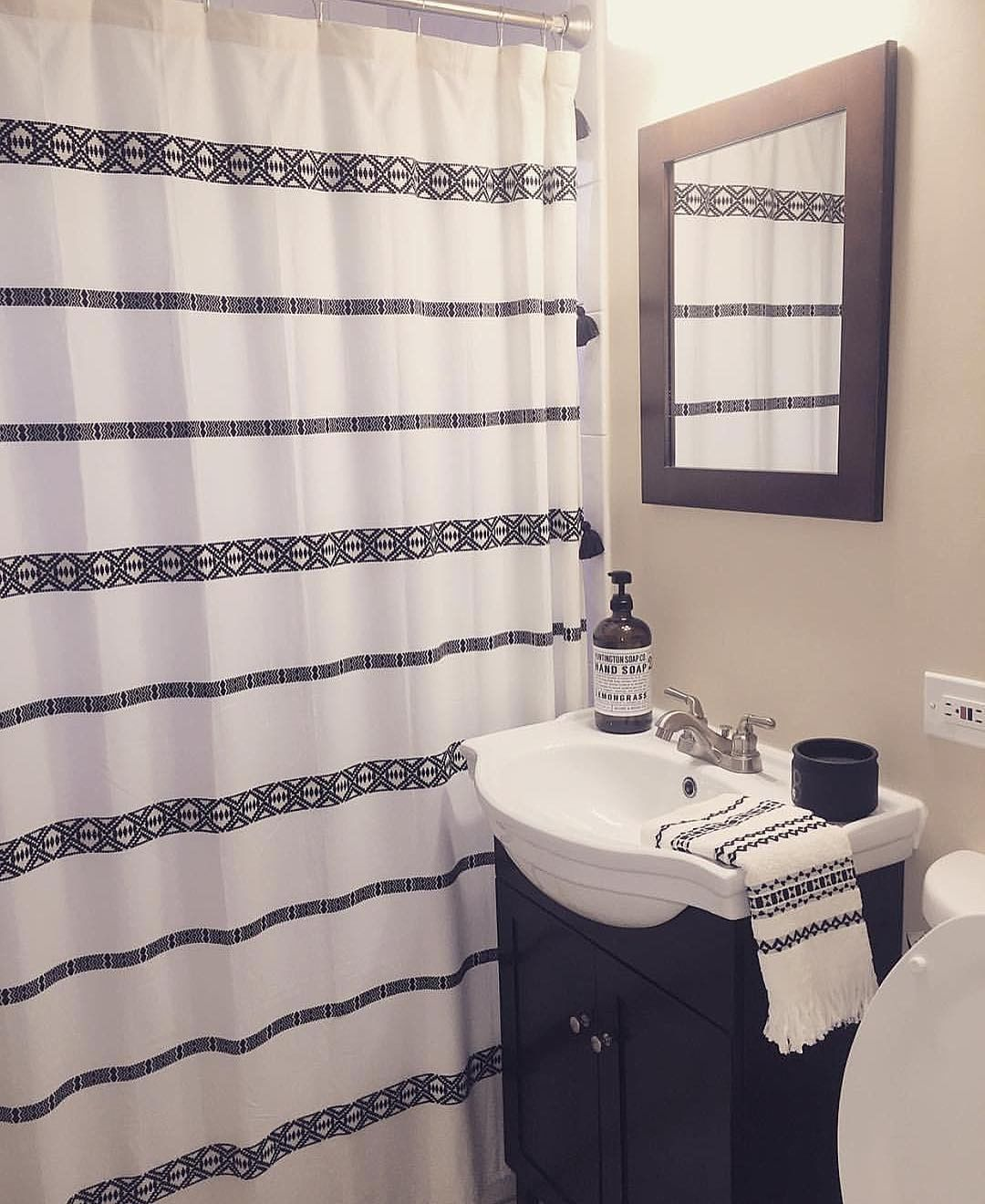 We Love How The Bhglivebetter Tribal Chic Shower Curtain Looks In
