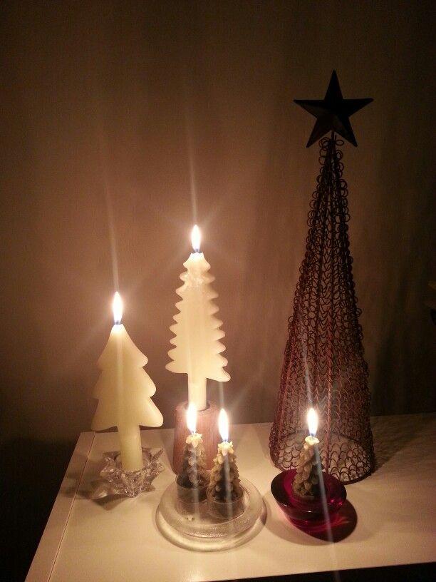 Christmas Decor Home Decor Small Space Christmas Tree Candles Christmas Tree Shaped Candles Votive Wired Christmas Tr Candle Shapes Candles Tree Shapes