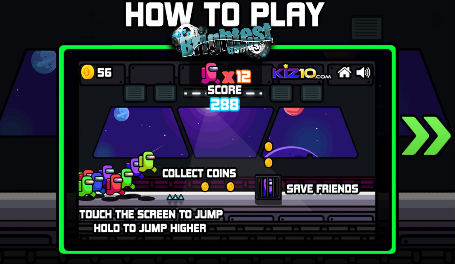 Play Among Us Space Rush Free Rush Games Addicting Games Survival Games