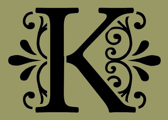 STENCIL Decorative Letter K 10x7 by ArtisticStencils on Etsy ...