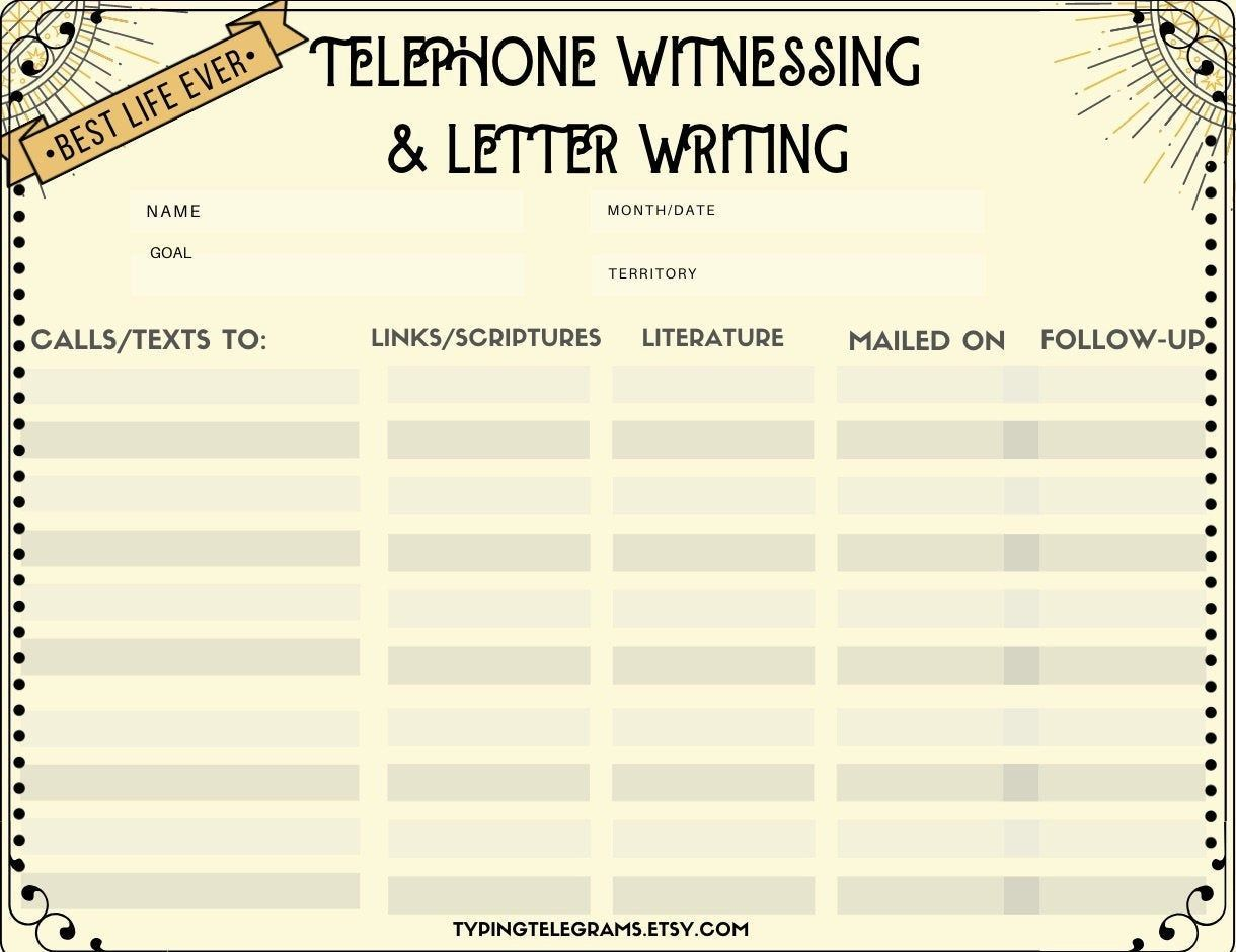 Vintage Jw Telephone Amp Letter Writing Zoom Printable