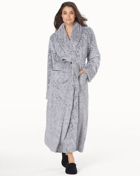 9f0eda509f Soma Intimates Luxe Marble Long Robe Silver Diamond W Black  somaintimates.  Best winter robe ever!