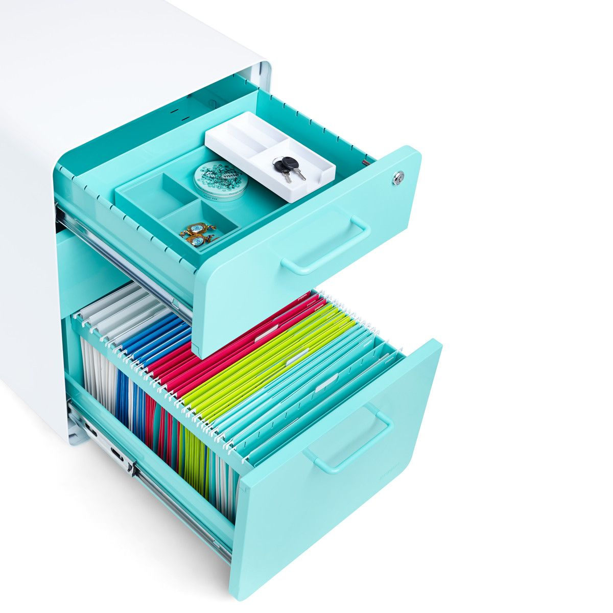 modern office desk accessories. poppin aqua stow 3 drawer file cabinet modern desk accessories cool office supplies and