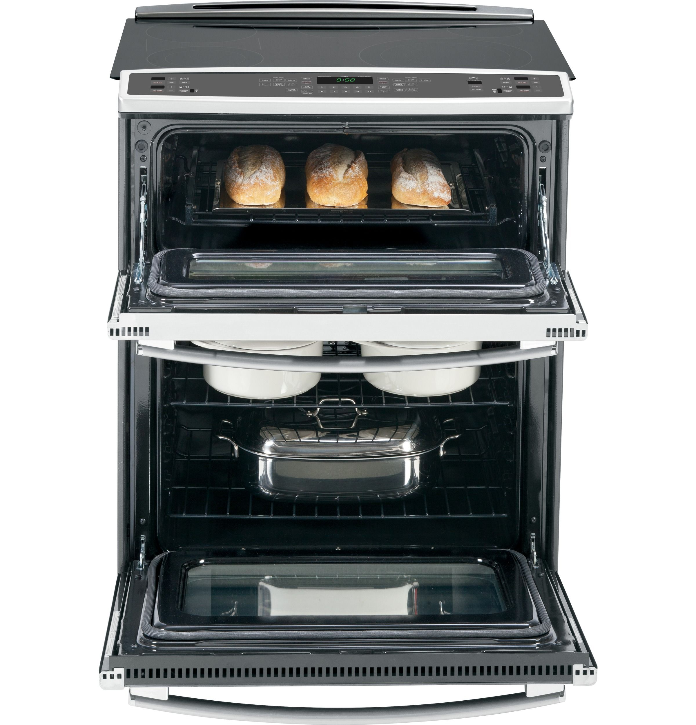 Ps950sfss Ge Profile Series 30 Slide In Double Oven Electric