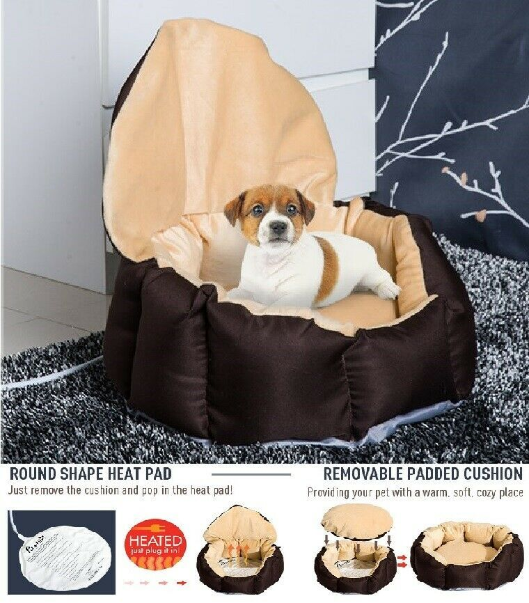 Details About Heated Pet Bed Nest Mat Cat Dog Puppy Electric Heat Pad Warm Soft Plush Cover Heated Pet Beds Cat Pet Supplies Pet Heating Pad