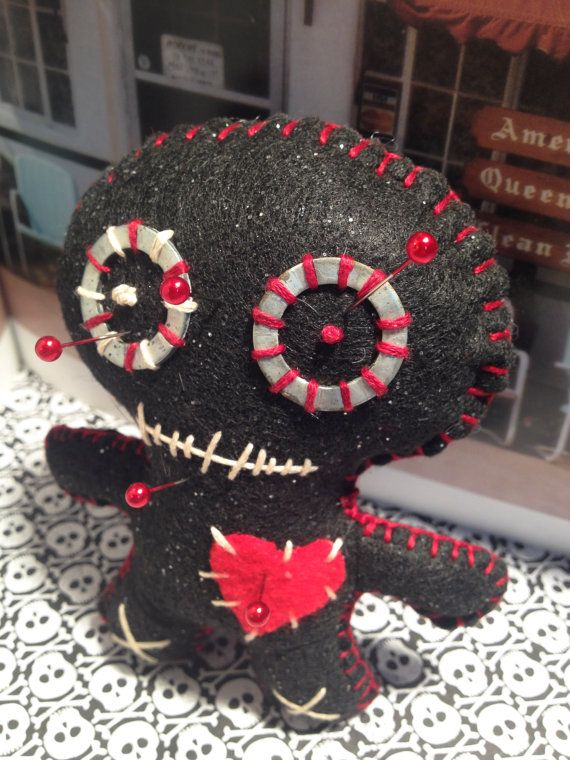 VooDoo Doll Pincushion by thesalvageemporium on Etsy, $8.00