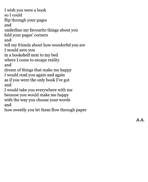 this is the most beautiful thing i have ever read xoxo