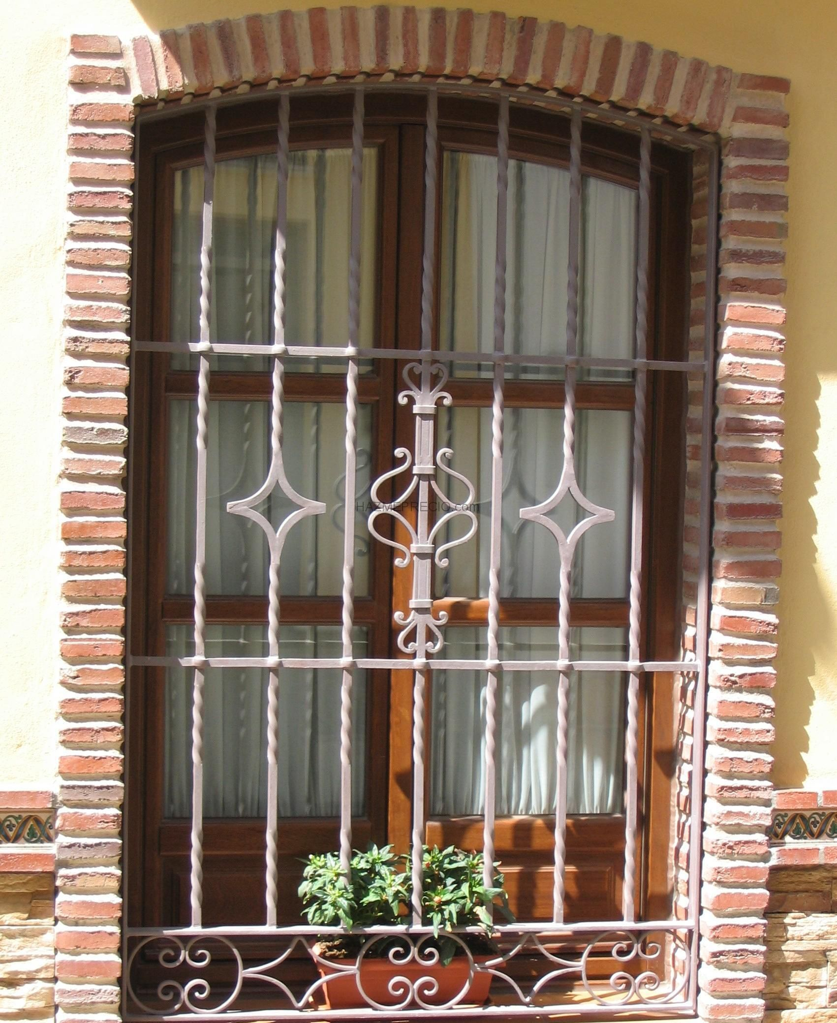 Rejas Artisticas For The Home Pinterest Rejas Ventana Y  ~ Ventanas De Seguridad Para Casas