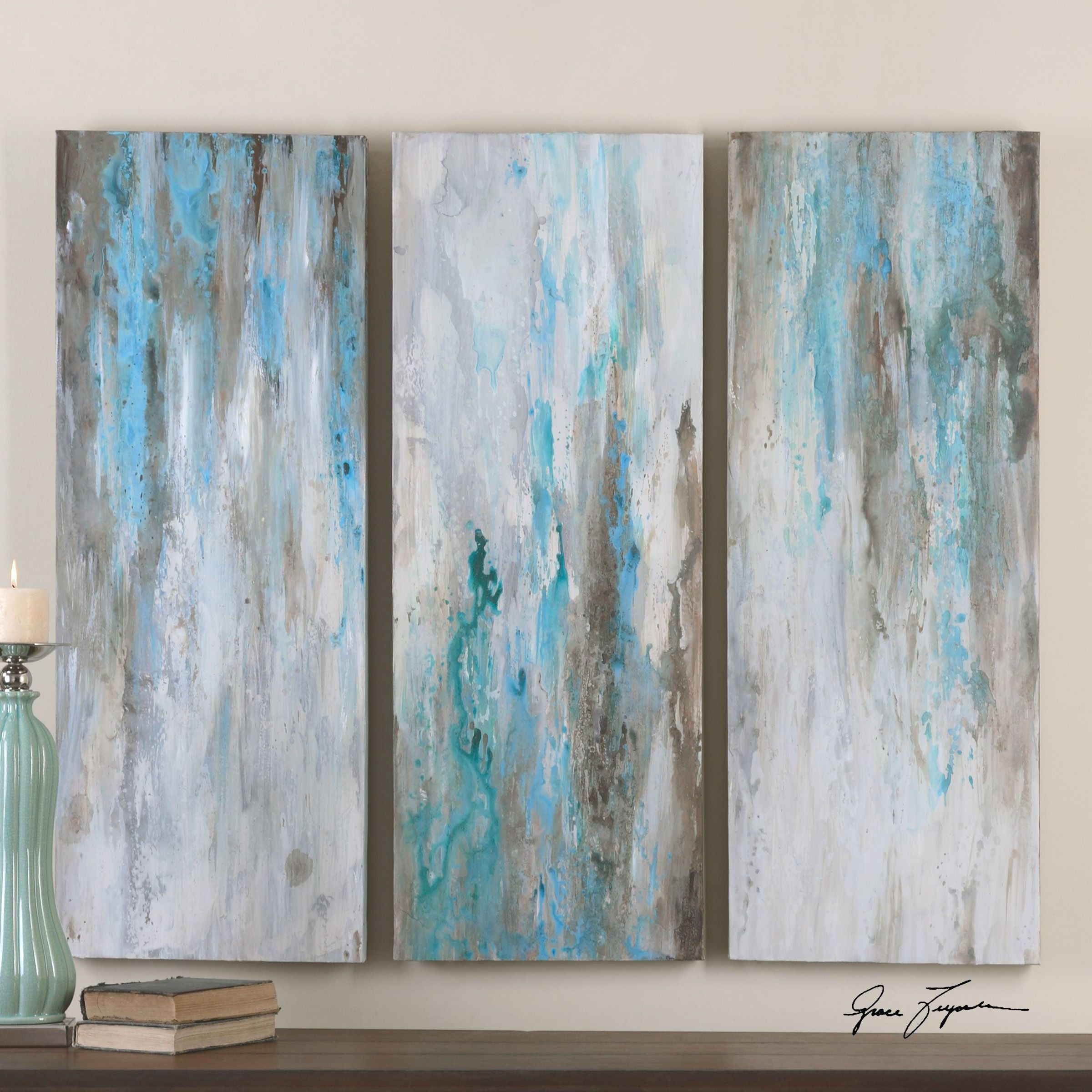 You Ll Love The Smokey By Grace Feyock 3 Piece Original Painting On Canvas Set At Wayfair Ca 3 Piece Canvas Art Canvas Art Wall Decor Abstract Art Painting