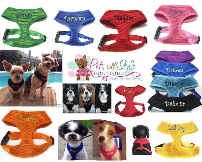 Dog · #1 Best Seller Custom Embroidered Soft mesh pet harnesses