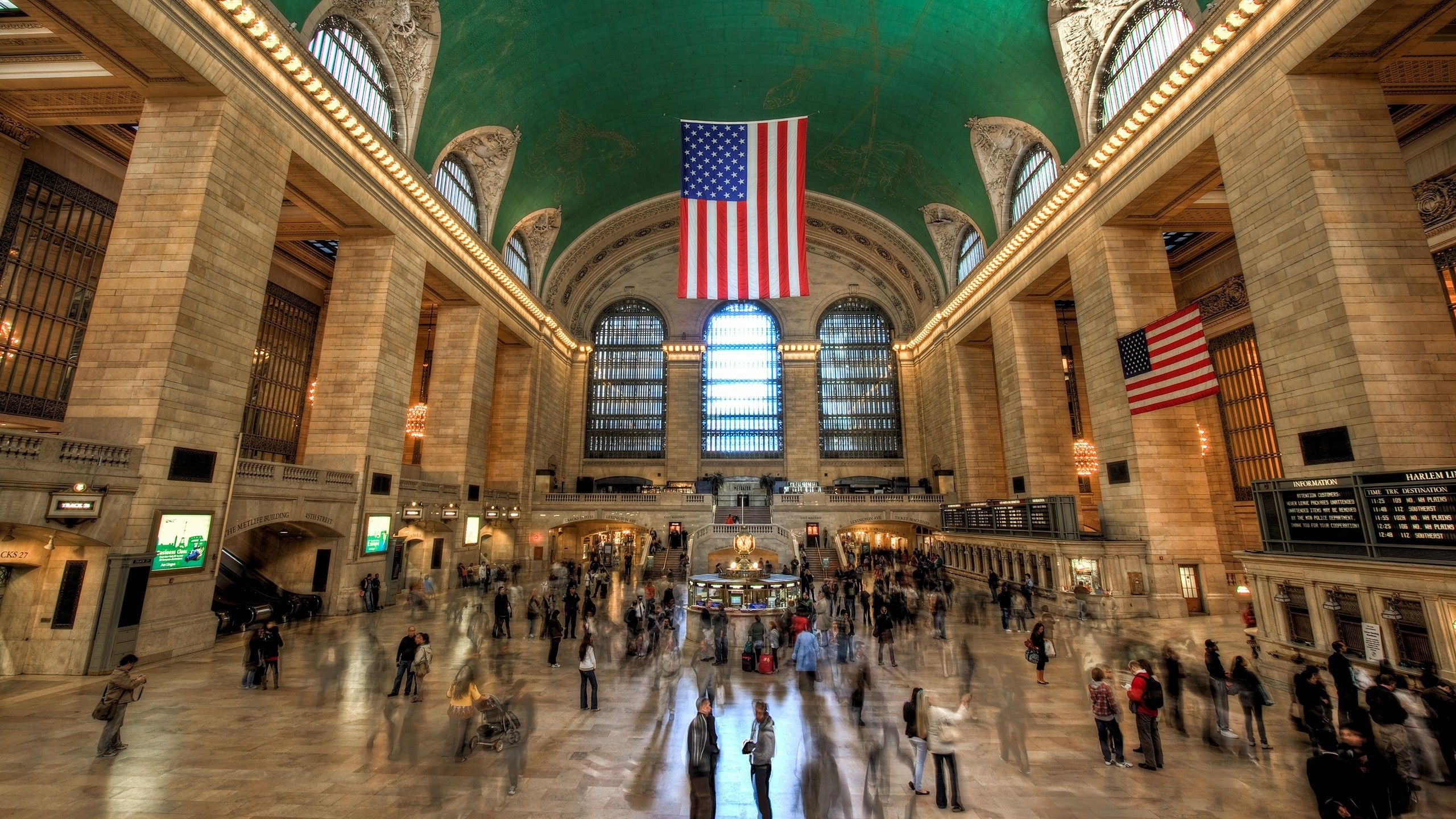 Station new york city train stations grand central (2560x1440, new ...