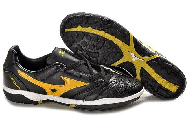 Mizuno Wave Ignitus K-Leather TF Soccer Cleats-Black Yellow  4031221a07